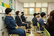 한정애 환경부장관, '나눔초등학교의 병뚜껑 고리를 부탁해 환경활동' 현장방문 사진 5