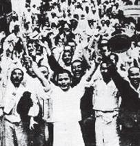 국가기록원이 공개한 광복 당일 국민들의 모습.