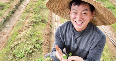 먹는 네 잎 클로버 매일 2만장 수확하는 홍인헌 씨