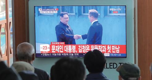"""""""북한 지도자 남쪽으로 오게 한 첫 대통령"""""""
