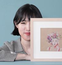 김미승 작가의 작품은 인물 그림에서 꽃 그림으로 확장된다.