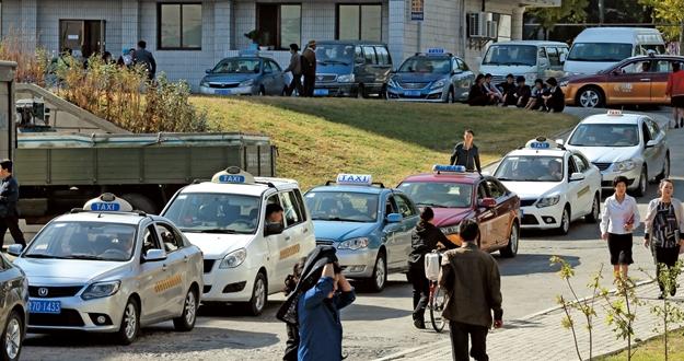 택시가  대중교통, 평양도 길 막혀