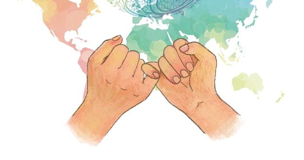 세 정상 판문점 회동 평화의 '새끼손가락'