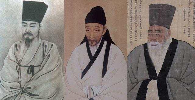 조광조 영정,이황 표준영정, 송시열 초상