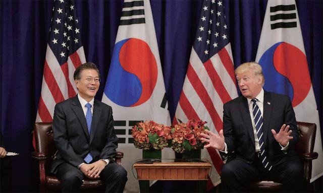 유엔총회 참석 차 미국을 방문한 문재인 대통령이 지난 9월 21일(현지시간) 도널드 트럼프 미국 대통령과 '한미정상회담'을 가졌다.