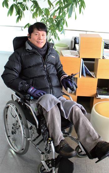 한국장애인자립생활센터협의회 회장 최용기 씨
