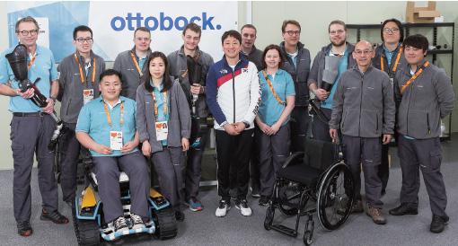 오토복코리아는 평창패럴림픽 기간 동안 선수촌에 리페어센터를 마련하고 의지 제작과 수리를 맡았다.