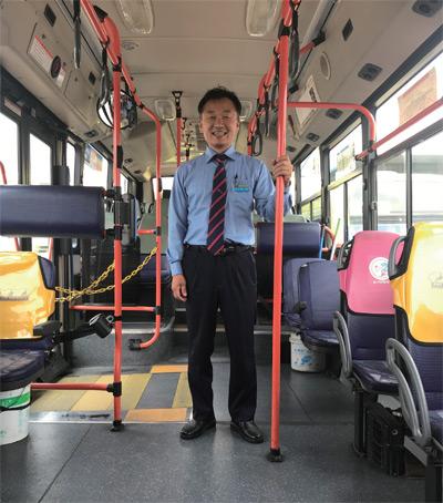 전주 전일여객에서 근무하는 버스기사 허혁 씨