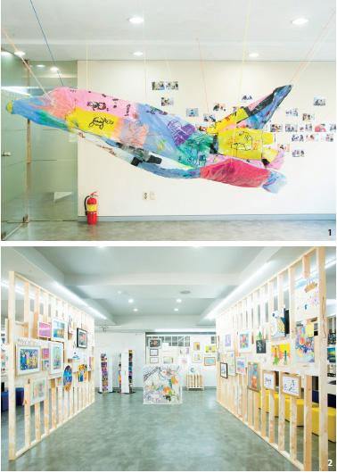 3층 '유니온X'에 전시된 이준 작가의 작품