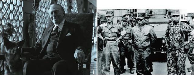 5·16 군사정변을 상징하는 유명한 사진. 선글라스를 쓴 사람이 가장 높은 권력을 가진 사람이다.