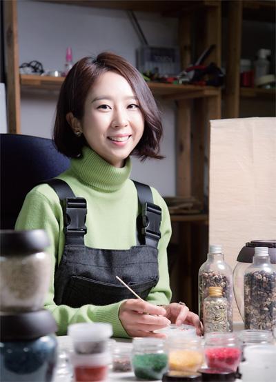 국내 1호 쌀아트 전문가, 김효정 작가