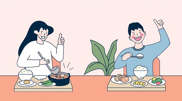 다음 중 건강을 지키는 식사문화와 거리가 먼 것은?