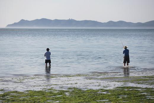 백령도가 마주보이는 농여해변에서의 바다낚시.