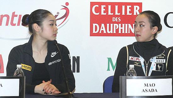 2014년 러시아 소치에서 열리는 동계올림픽의 승자는 누구일까? 연아와 마오의 라이벌 대결 시즌2가 시작됐다.(사진=저작권자(c)연합뉴스.무단전재-재배포금지)