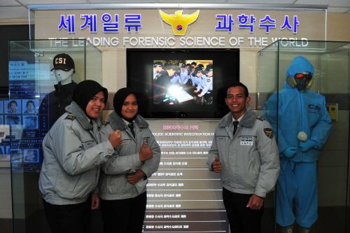 개발도상국(제3국)의 경찰, 국과수 등이 KOICA(한국국제협력단)을 통해 매년 우리나라를 방문해 우리의 과학수사 기법을 배우고 있다. 2005년부터 현재까지 40여개국이 방문했다. <사진=경찰청 / >