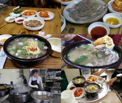나주곰탕은 맑은 국으로 유명하다. 배가 부른 상태에서도 잘익은 깍두이를 얹은 국밥은 계속 술술 넘어갔다.