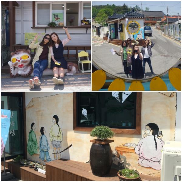 교동민화마을에선 골목길을 걷다보면 아기자기한 상점과 사진 찍기 좋은 장소들을 곳곳에서 만날 수 있다.