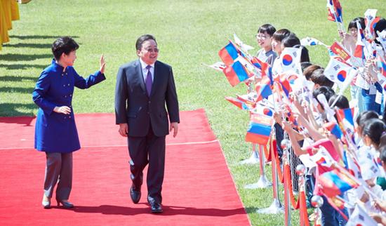 19일 한국을 국빈 방문한 차히아 엘벡도르지 몽골 대통령