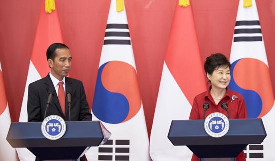 16일 박근혜 대통령과 조코위 인도네시아 대통령의 공식 기자회견