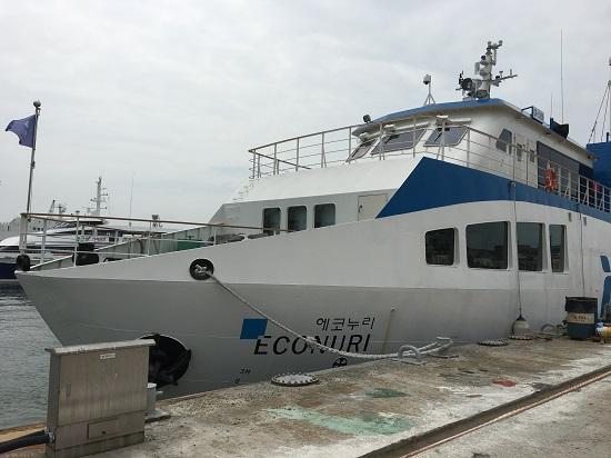 아시아 최초 친환경 LNG연료 추진 선박, 에코누리호.
