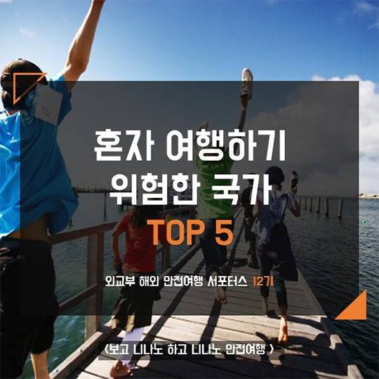 혼자 여행하기 위험한 국가 TOP 5