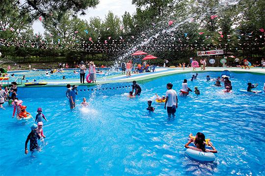 물의 나라 화천 쪽배축제에 조성되는 야외 물놀이장.(사진=화천쪽배축제 사무국)
