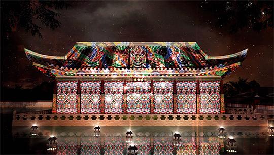 서울 경복궁에서는 10월 28일까지 미디어 파사드 공연과 야간 특별관람을 실시한다. (사진=코리아 세일 페스타 사무국)