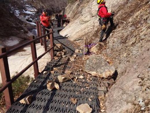 봄철 산행 시 낙석 주의…국립공원 안전점검