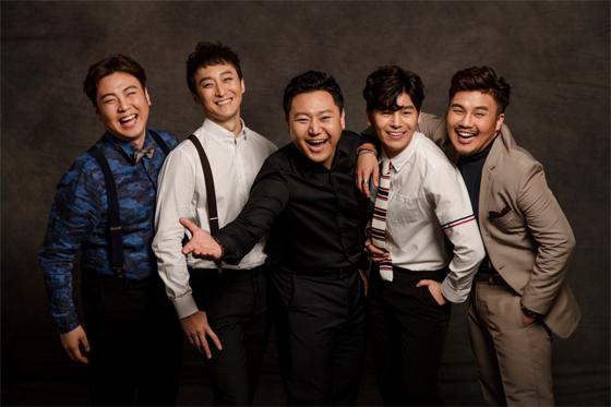 '흥보씨'에 주요 배역으로 출연하는 국립창극단 남자 배우 (최용석·이광복·최호성·김준수·유태평양(좌측부터)