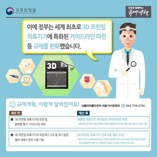 3D 프린팅 의료기기 규제 완화로 의료산업 활성화