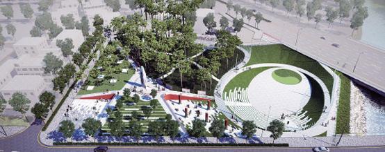 대전시가 추진하는 나라사랑길 조성사업 설계 공모에 출품된 기억의 공원 조감도. 대전시는 국립대전현충원을 중심으로 5㎞에 걸쳐 나라사랑길을 조성해 국민의 나라사랑 정신을 고취할 계획이다.