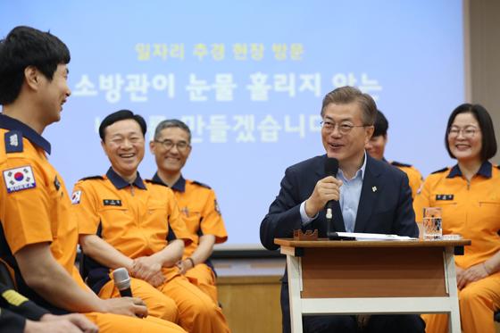 6월 7일 용산소방서 방문 일자리창출 간담회.