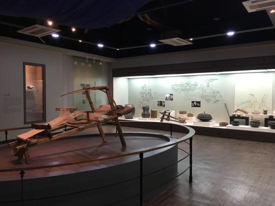 벽골제농경문화박물관 내부 전시