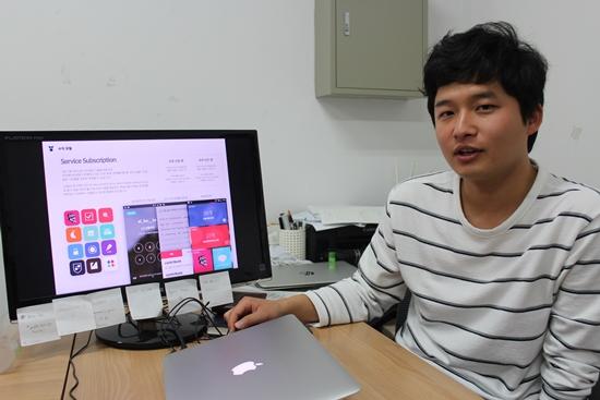 잠금화면을 이용한 단어 외움 서비스를 하는 크리에이션팟(CreationPot) 박윤규 대표.