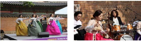 지난해 5~10월 경복궁에서 진행된 퓨전국악공연'반짝궁 콘서트'