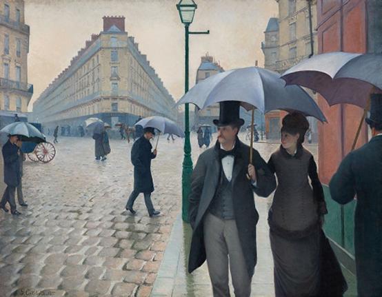 구스타브 카유보트 <파리, 비오는 날> 캔버스에 유채, 1877, 212,1×276.2cm, 시카고 아트 인스티튜트, 시카고