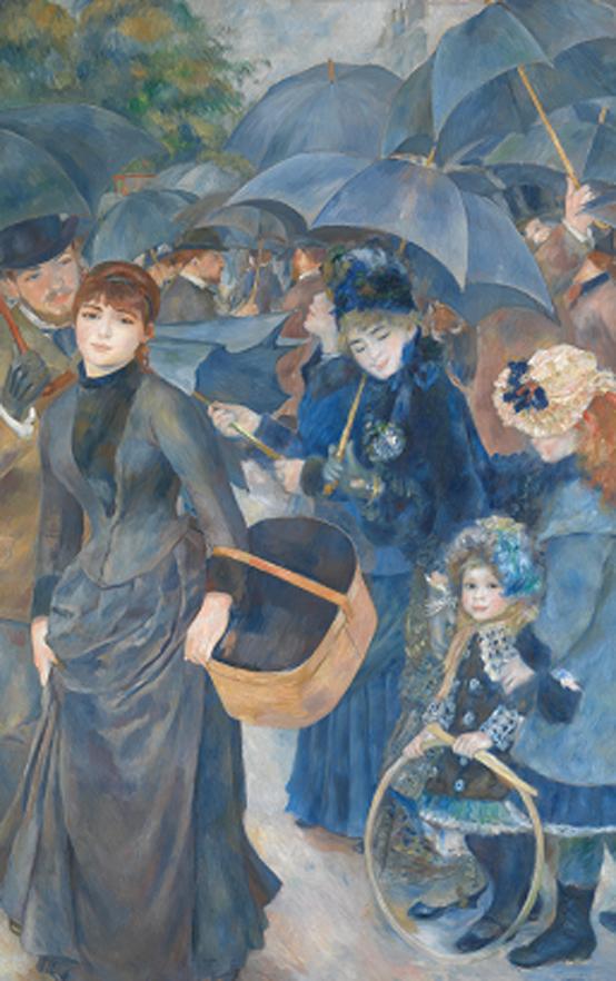 피에르 오귀스트 르누아르 <우산> 캔버스에 유채, 1881-85년경, 180.3×114.9cm, 내셔널갤러리, 런던