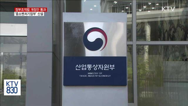 정부조직법 개정안 통과…'중소벤처기업부' 신설
