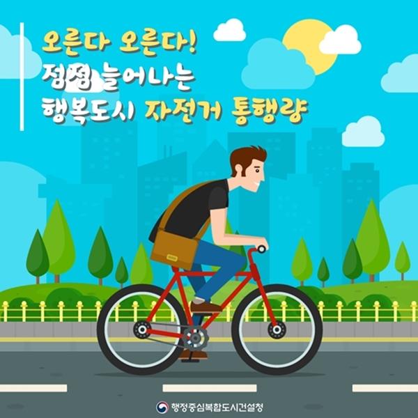 행복도시 자전거 통행량 계속 증가