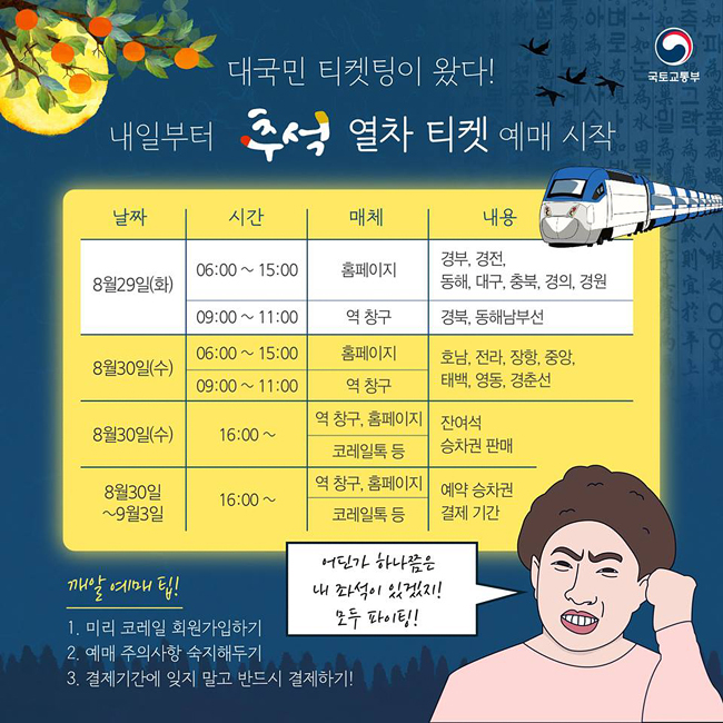 '대국민 티켓팅' 추석 열차 예매 깨알팁