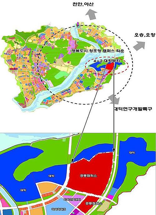 행복도시 공동캠퍼스 조성 계획.(제공=국토교통부)
