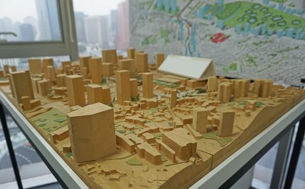 서울역도시재생센터에 놓인 모형