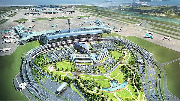 인천공항 제2터미널 조감도.(제공=국토교통부)