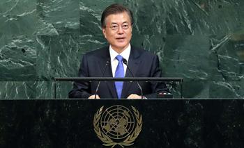 """문 대통령 """"북핵, 유엔 다자주의 대화로 풀자"""""""