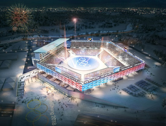 평창 동계올림픽 경기가 열리는 '올림픽 스타디움'(사진출처: 평창동계올림픽홈페이지)