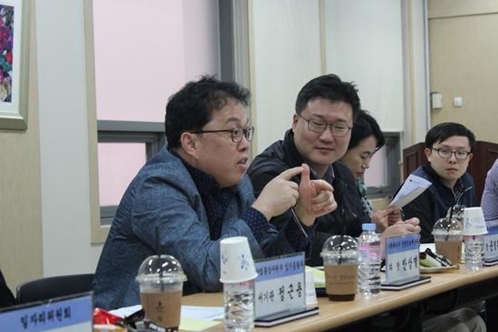 기획재정부 관계자들과 부평산단 입주 중소기업의 논의 현장.