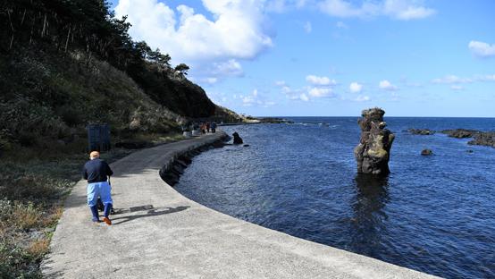 천연기념물로 지정된 용암기종 '애기 업은 돌'