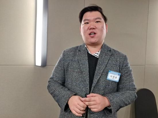 대한민국 인재상을 수상한 동아대학교 이영훈씨.
