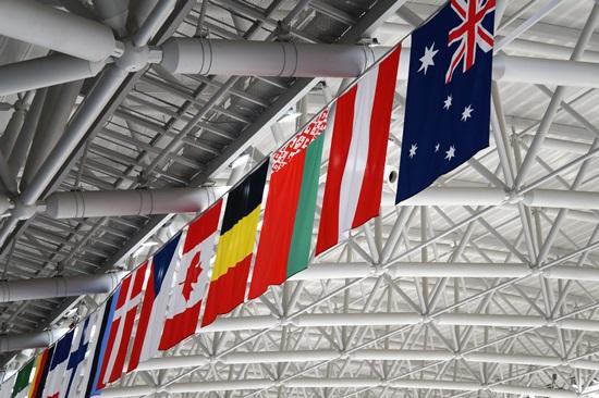 2018평창동계올림픽참가국 국기들