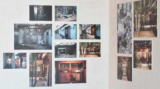 서울 중구 동대문디자인플라자(DDP)갤러리문에서 전시 중인 '지랩' 전시물. 도시재생 과정을 사진으로 보여준다.(사진=C영상미디어)